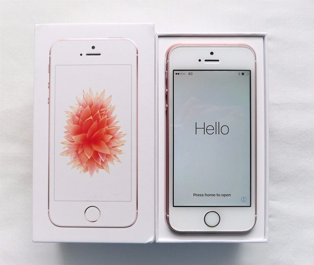 Apple iPhone SE White/Rose Gold 16GB O2 Network Boxed Apple Warranty Nov 2017in Louth, LincolnshireGumtree - Apple iPhone SE White/Rose Gold As New 16GB O2 Network Apple iPhone SE locked to the O2 network as new. Original box with Charger, manual and sim tool. Apple Warranty until 9th November 2017. Shipping to UK registered addresses only!