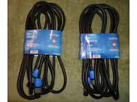 Neutrik NL2FC Speakon Speaker Cable (a pair) PA Lead 2-core 6m 20ft Professional