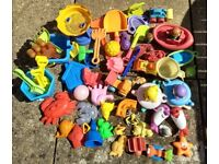 Large Collection of Sandpit and Water Swimming Pool Toys
