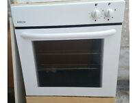 Electric oven, grill and gas hob integrated cooker