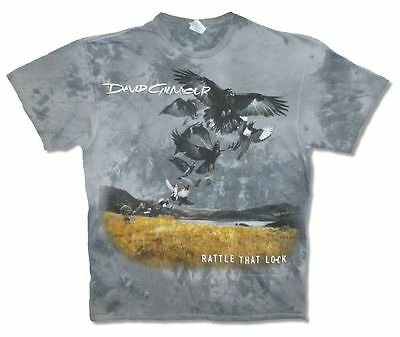 David Gilmour Rattle That Lock N.A. Tour 2016 Adult Gray Tie Dye T Shirt New