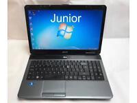 Acer Fast Laptop, 320GB, 3GB Ram, Window 7, Microsoft office, Very Good Condition, Antivirus