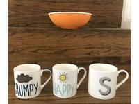 Mugs, Bowl