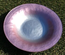 Pink and Silver Glass Bowl