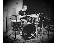 Drummer available for session and studio work.