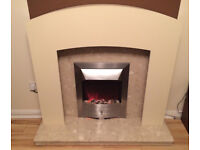 Marble Fire Place/Electric - Delivery Availiable.