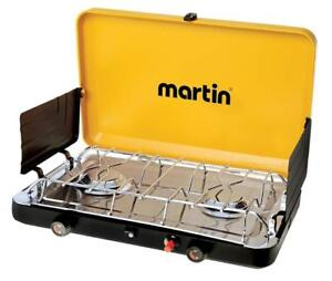 NEW MARTIN 2 Burner Propane Stove Grill Gas 20 000 Btu Outdoor Trip Accessory Portable