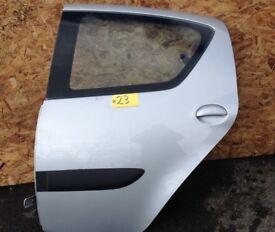 2005-2014 TOYOTA AYGO 5 Door NS Rear Passenger Door Silver