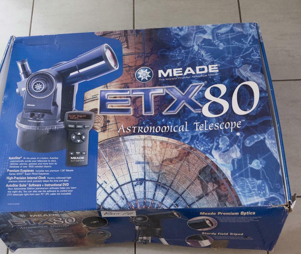 Telescope : Meade ETX80 AstronomicalTelescope | in Shepton Mallet, Somerset  | Gumtree