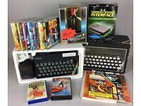 -SINCLAIR ZX SPECTRUM 48K- BOXED COMPUTER CONSOLE GAMES KEMPSTON JOYSTICK BUNDLE