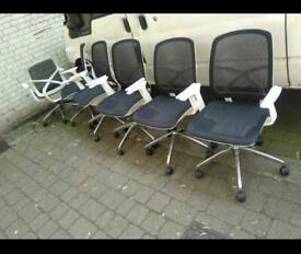 Mesh Back Office Chairs x6