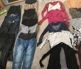 Large selection of maternity clothes