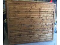 🌞 Brown Tanalised Waneylap Wooden Garden Fence Panels