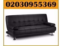 Brand New Florence Leather Italian Bonded Leather Sofa Bed * delivery only in london
