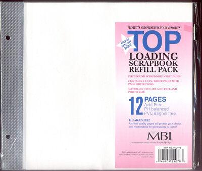 - NEW (12) MBI TOP LOADING SCRAPBOOK ALBUM INSERT PAGE PROTECTORS 8