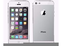 Excellent condition iPhone 5 Silver 16GB Unlocked New Condition