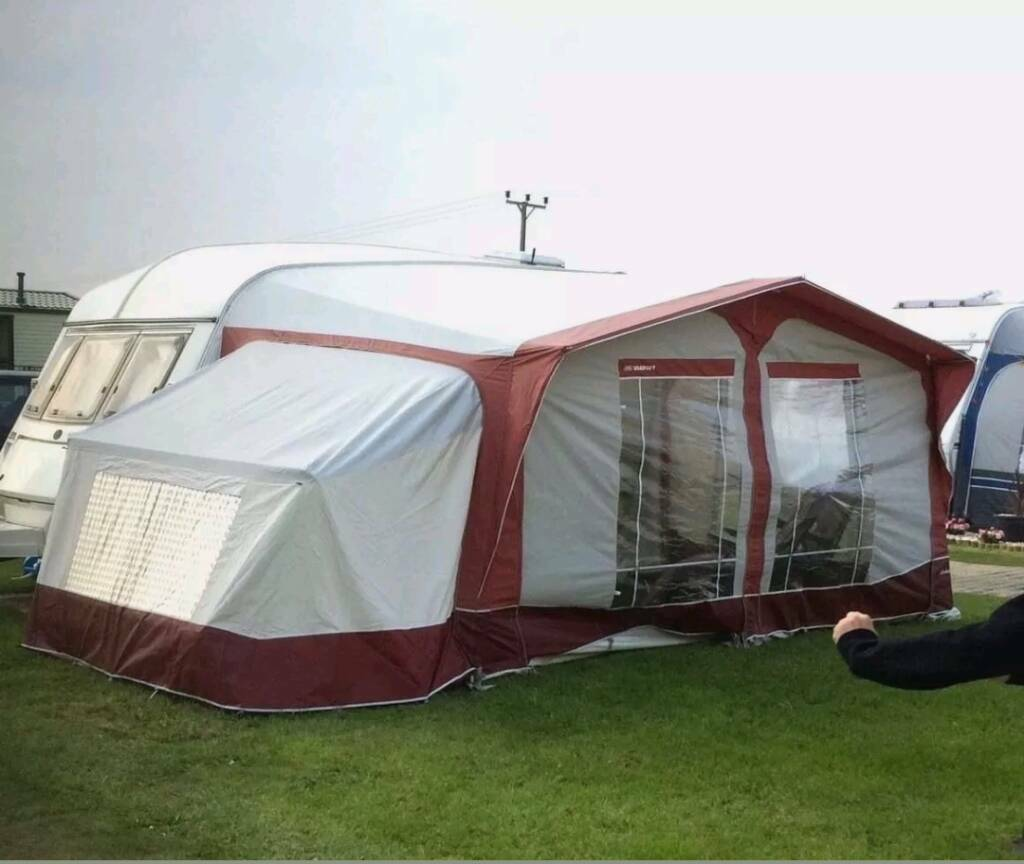 BRADCOT CLASSIC CARAVAN AWNING 810 825cm RED WINE WITH ANNEX