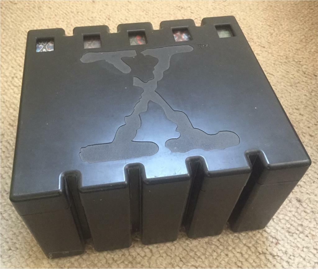 x files black forensic evidence box set vhs very rare specially designed to house 5 vhs. Black Bedroom Furniture Sets. Home Design Ideas