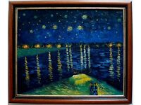 ****Van Gogh Oil Hand Painting Reproduction Starry Night Over the Rhone****