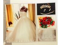 Beautiful princess wedding gown