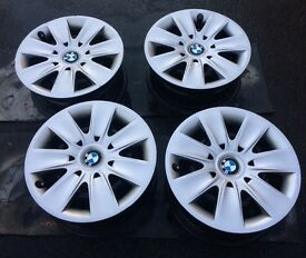 BMW STEEL WHEELS X4 WITH TRIMS - IDEAL WINTER WHEELS!