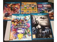 Nintendo Wii U Boxed with 5 games.
