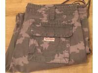 True Religion Brand Jeans camouflage cargo pants. Brand new. Waist 32. Thick stitch
