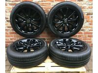 "Range Rover 20"" alloys black with tyres genuine new"