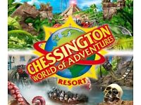 CHESSINGTON WORLD OF ADVENTURES TWO TICKETS VALID FOR FRIDAY 15th JUNE 2018