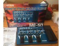 Boss ME50 multifx guitar pedal board