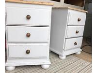 Painted bedside tables / drawers