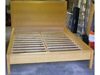 BoConcept Beech Finish Continental Queen Bedstead Double Bed (No Mattress) Cost £1000 New