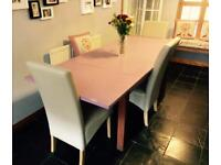 Dining Table and chairs and bench seat