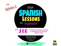 Group Spanish Lessons for complete beginners at Hamilton house. £12 per session