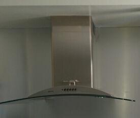 SMEG KSEV90X 90cm curved glass cooker hood