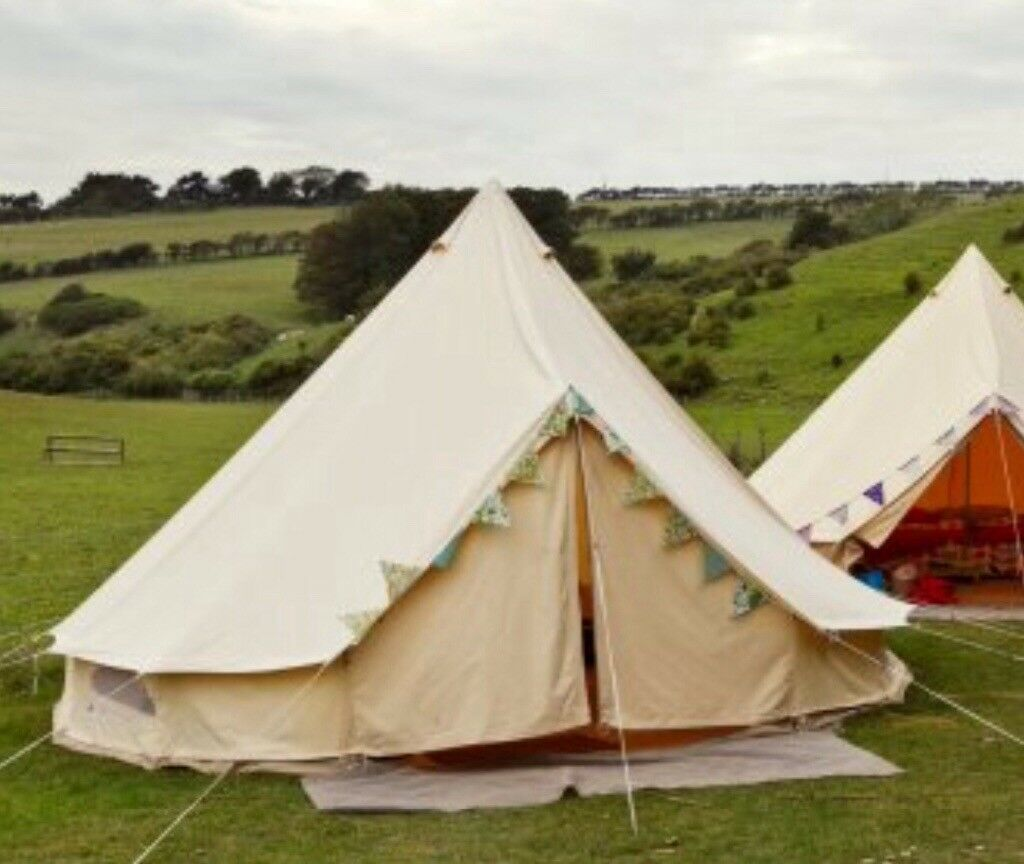 5 Metre Bell Tent. Luxury ex gl&ing. All component parts present.£250 & 5 Metre Bell Tent. Luxury ex glamping. All component parts present ...