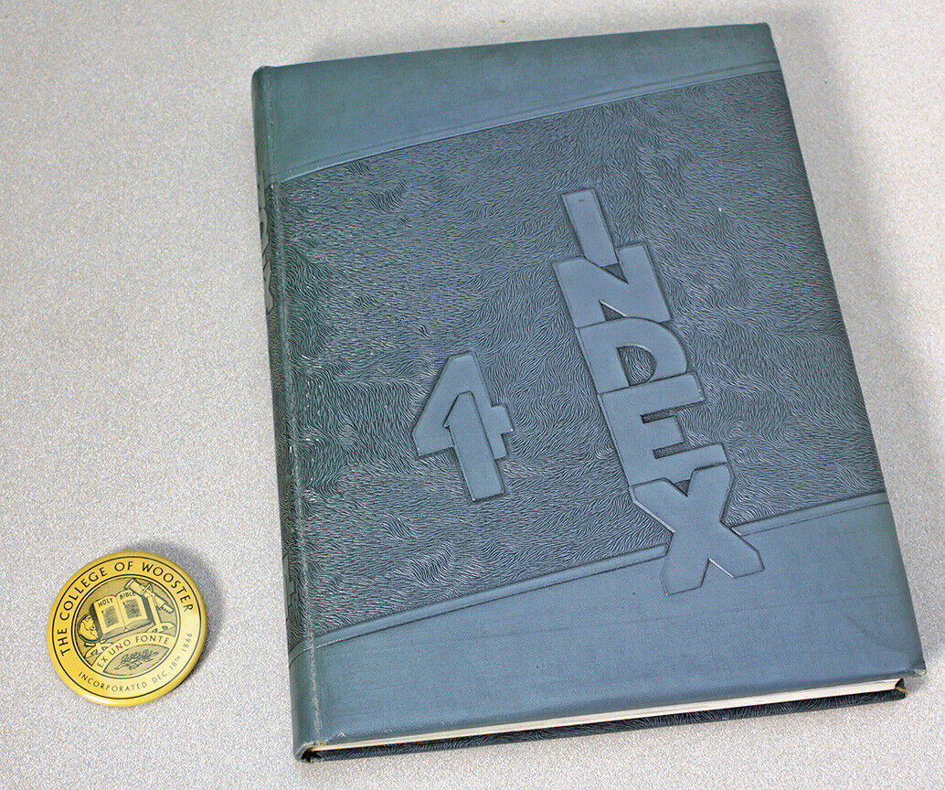 1941 Yearbook College of Wooster : INDEX + Button / Pin