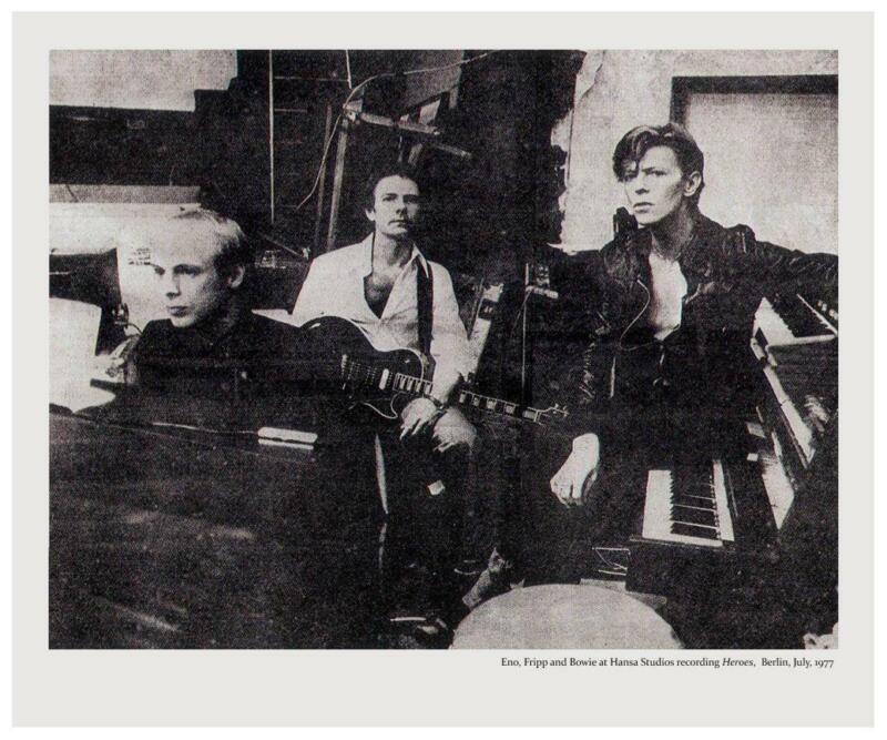David Bowie - POSTER - Brian Eno Robert Fripp  king crimson - HEROES studio pic