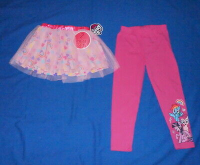 My Little Pony Girls 2pc Set Pink Color Tutu & Legging Size 6 NWT $12.75 Free/Sh (My Little Pony Leggings)