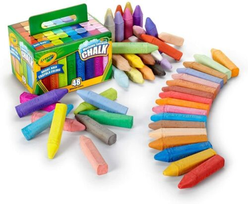 Crayola Washable Sidewalk Chalk 48 Pieces All Different Colors