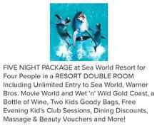 Sea World Resort Package valued at $2,079 Waratah Newcastle Area Preview