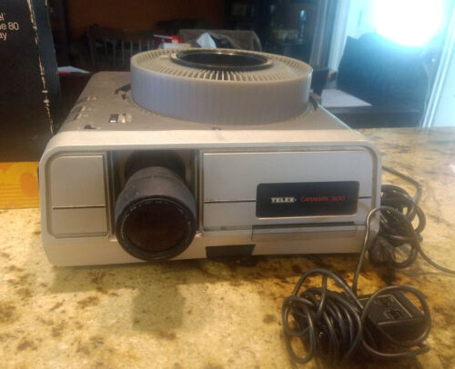TELEX CARAMATE 3100 Vintage Slide Projector Working, with remote