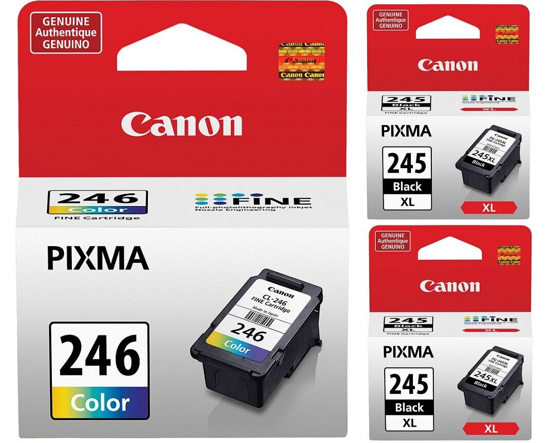 Genuine Canon PG-245 XL High Capacity Black  + CL-246 Color