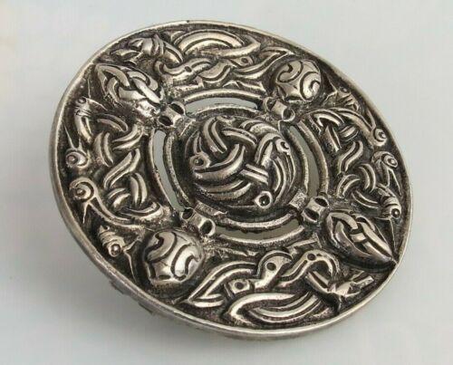 VTG  STERLING SILVER LARGE SCOTTISH CELTIC PIN BROOCH SCOTLAND DRAGON Serpent !