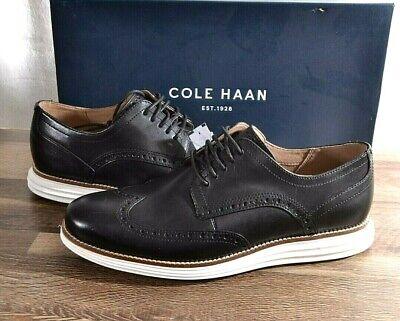 Cole Haan Men's Original Grand Swing Wingtip Oxford Shoes 9 D MED Black C26469