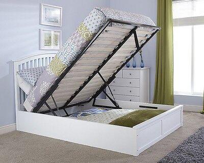 Shaker-stil Holz (Solid Aus Holz Gebogene Shaker Stil Ottomane Gasfeder Bett Mit Bettkasten+)