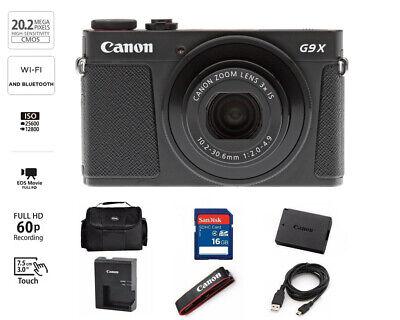Canon PowerShot G9X Mark II 20.1MP Digital Camera 3x Optical Zoom Black Full-HD