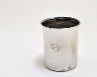 Vintage Lunt Sterling Silver Shot Glass Jigger - Monogrammed Shot Glasses