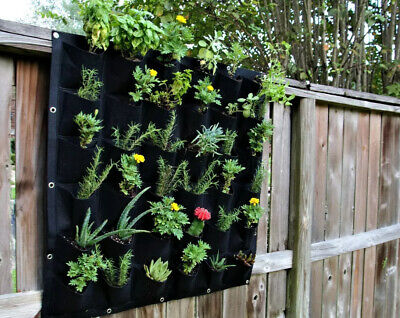 36 Pocket New Black Indoor Outdoor Wall Balcony Garden Vertical Hanging Planter