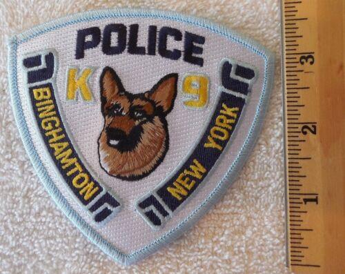 BINGHAMTON NEW YORK K9 POLICE PATCH (FIRE, HIGHWAY PATROL, EMS)